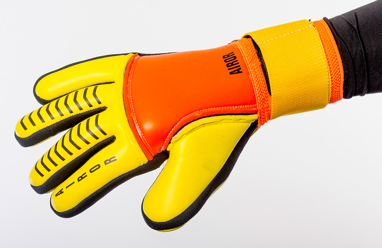 Orange and Yellow Glove