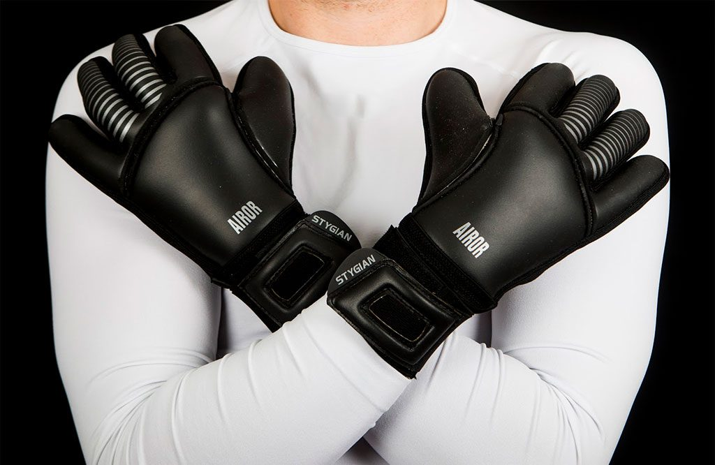 All Black Stygian AIROR Goalkeeping Gloves